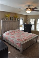 Wood rustic farm style king bed in Wilmington, North Carolina