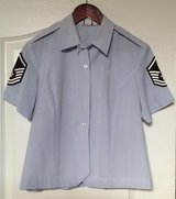 Military Women's short sleeve blue baby doll shirt (size 16 short) 3 shirts available in Byron, Georgia