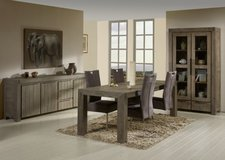 Dining Room Set Alberta - China Cabinet + Table + 4 Chairs -Includes Delivery Italy .monthly pay... in Vicenza, Italy