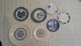 Blue & white plate collection in Warner Robins, Georgia