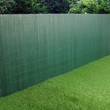 PVC Garden Fence Plastic Panel Screen Double Faced Green 3m Long 1m Tall in Ramstein, Germany