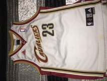White Cleveland Cavs LeBron James #23 jersey in Fort Polk, Louisiana