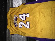 Yellow Kobe Bryant Lakers #24 jersey in Fort Polk, Louisiana