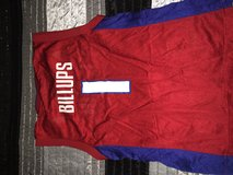 Red Chauncy Billups Pistons #1 jersey in Fort Polk, Louisiana