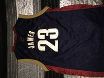 Navy LeBron James Cavs jersey in Fort Polk, Louisiana