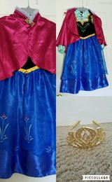 Disney Frozen Anna Dress & Crown in Beaufort, South Carolina