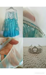 Disney Frozen Elsa Dress & Crown in Beaufort, South Carolina