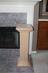 Oak Plant Stand Pedestal for Fireplace in Kingwood, Texas