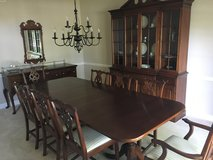 13 PC LINK TAYLOR SOLID MAHOGANY DINING ROOM SET in Glendale Heights, Illinois