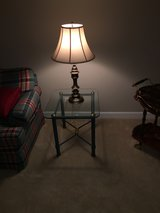 Glass end table in Glendale Heights, Illinois