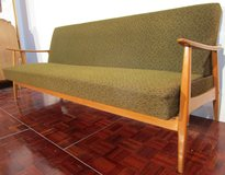 Mid Century Danish Design Green Sleeper Couch in Ramstein, Germany