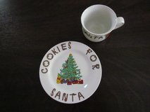 Santa Mug and Plate in Plainfield, Illinois