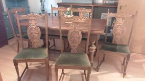Bavarian Dining Set / 6 Chairs in Ramstein, Germany
