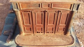 """""""Reduced""""cast iron wood stove in Alamogordo, New Mexico"""