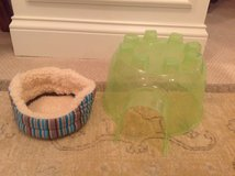 Small Animal Pet Bed and Plastic House - UNUSED / LIKE NEW in Aurora, Illinois