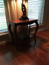 French oak marquetry side table in Kingwood, Texas