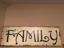 """""""FAMILY"""" Wooden Sign in Fort Rucker, Alabama"""