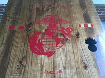 Wood USMC coffee bar table in Wilmington, North Carolina