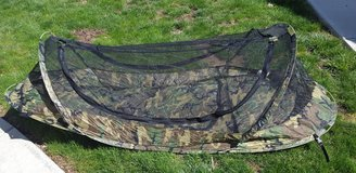 One Man Woodland Camo  Bug Tent in Fort Drum, New York