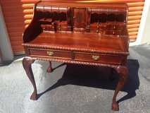Mahogany Chippendale Desk N Chair in Cherry Point, North Carolina
