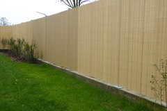 new PVC Garden Fence Plastic Panel Screen Double Faced 3 m Long 1,80 m Tall in Ramstein, Germany