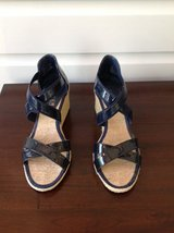 Women's Navy Blue Ralph Lauren Wedge Sandals Size 7.5 in Glendale Heights, Illinois