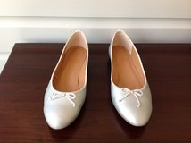 Women's Silver Ballet Flats / Shoes - J Crew Size 7.5 in Naperville, Illinois