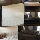 Comfy queen size memory foam mattress with sofa bed in MacDill AFB, FL