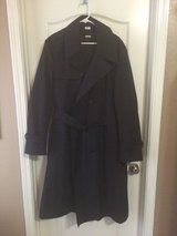 Black trench coat in Fort Benning, Georgia