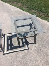 Two glass end tables in Camp Lejeune, North Carolina