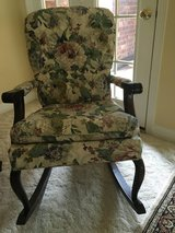 Antique-Look Floral Rocking Chair in Kingwood, Texas