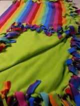 Handmade fleece tied throw 48x60 reduced in Westmont, Illinois