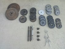 Assortment of weights in Fort Rucker, Alabama