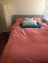 Queen size bed frame and mattress in Philadelphia, Pennsylvania