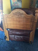 Headboard- TWIN -Light Wood with attachable bed frame in Lumberton, North Carolina
