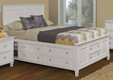 NEW KING STORAGE BED WITH FREE TOP QUALITY MEMORY  FOAM MATTRESS in Fort Irwin, California