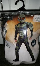HALO Master Chief Muscle Halloween Costume and Mask Size XL in Hinesville, Georgia
