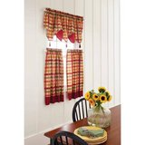 Better Homes and Gardens Red Check Tier, Valance-NEW in Joliet, Illinois