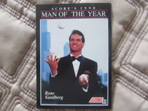 1991 Score Ryne Sandberg Man of the year for 1990 Card in Naperville, Illinois