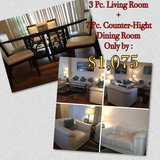 7 PC. Dining room + 3 PC. living room in MacDill AFB, FL