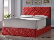 CONTEMPORARY RED LEATHER QUEEN PLATFORM BEDFRAME (NEW)!! in Camp Pendleton, California