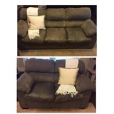 Gray couch & love seat in Fort Rucker, Alabama