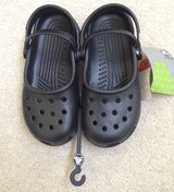 NWT girls black Mary Jane crocs size 2/4 in Bartlett, Illinois
