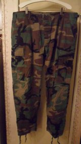 Large/short BDU woodland pants in Fort Campbell, Kentucky