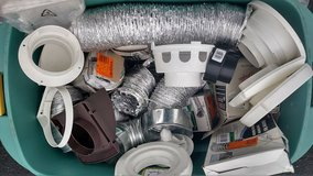HVAC items. Lots here. TAKE ALL for one price Dryer Duct Hose Vent Everbuilt in Joliet, Illinois