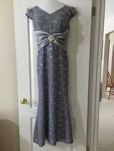 Silver Gray Dress Gown Sequin Mermaid style in Eglin AFB, Florida