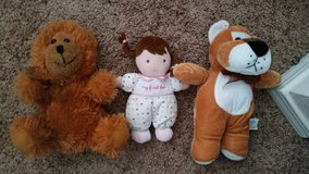 Stuffed animals and doll in Temecula, California