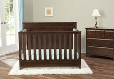 Selling a beautiful dark cherry baby crib and mattress! in Montgomery, Alabama