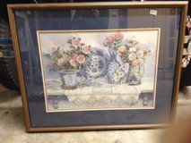 LARGE BLUE AND MAUVE FLORAL PICTURE in Lockport, Illinois