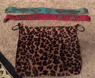 Leather Two Bar West Leopard purse with two straps in Cleveland, Texas